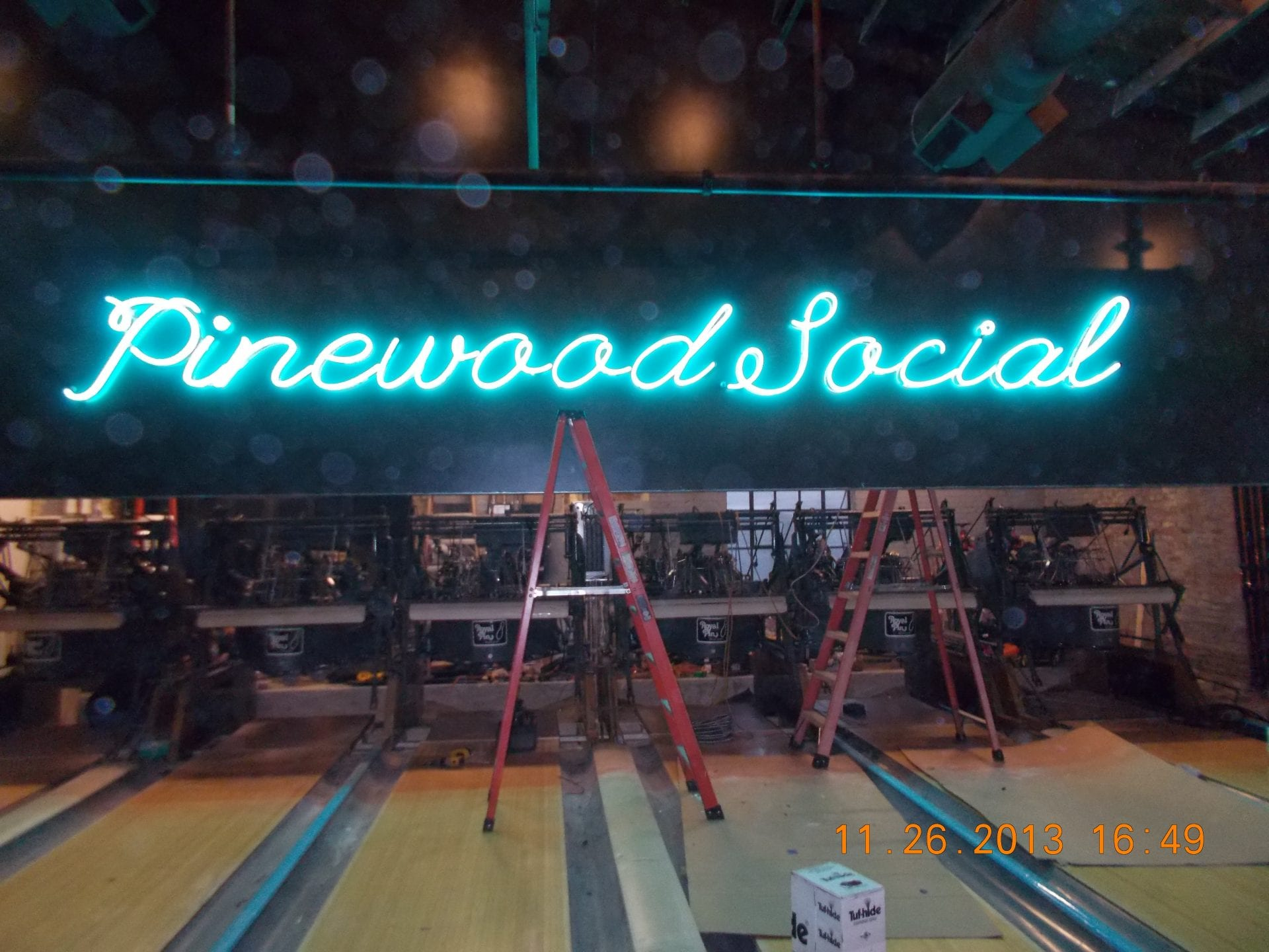 pinewood social bowling alley sign - Joslin & Sons Signs