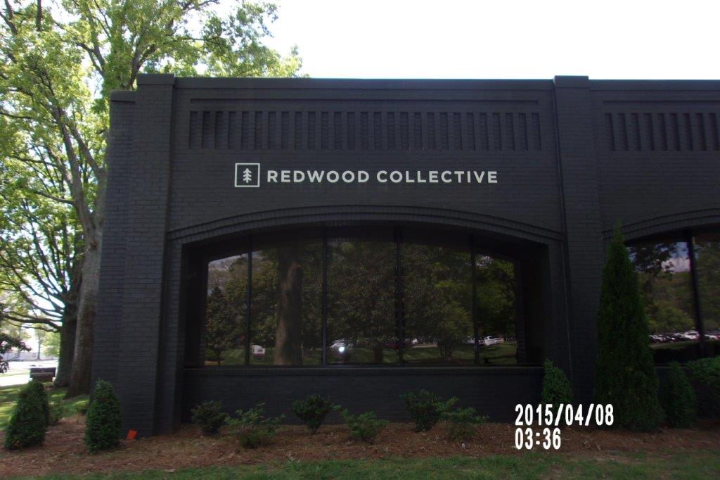 redwood collective sign - local sign company and business sign maker with led conversion in nashville - Joslin Sons Signs