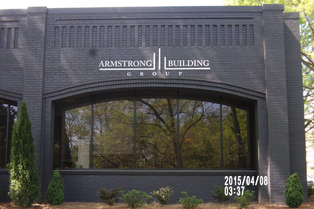 armstrong building sign - local sign company and business sign maker with led conversion in nashville - Joslin Sons Signs