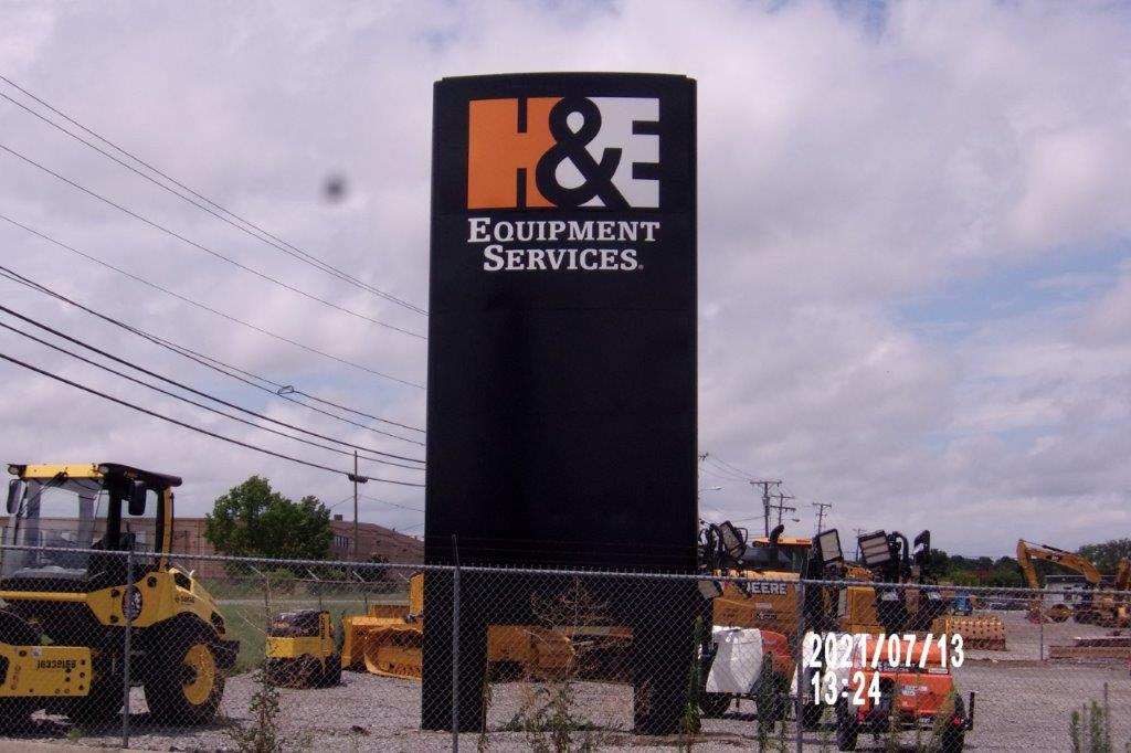 equipment service sign - local sign company and business sign maker with led conversion in nashville - Joslin Sons Signs
