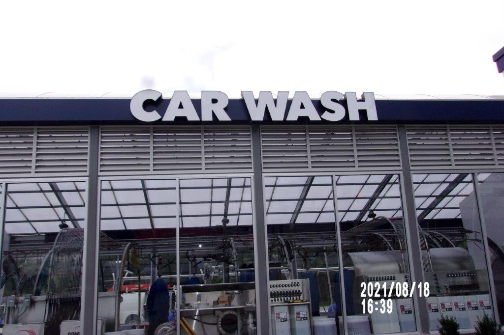 car wash service sign - local sign company and business sign maker with led conversion in nashville - Joslin Sons Signs