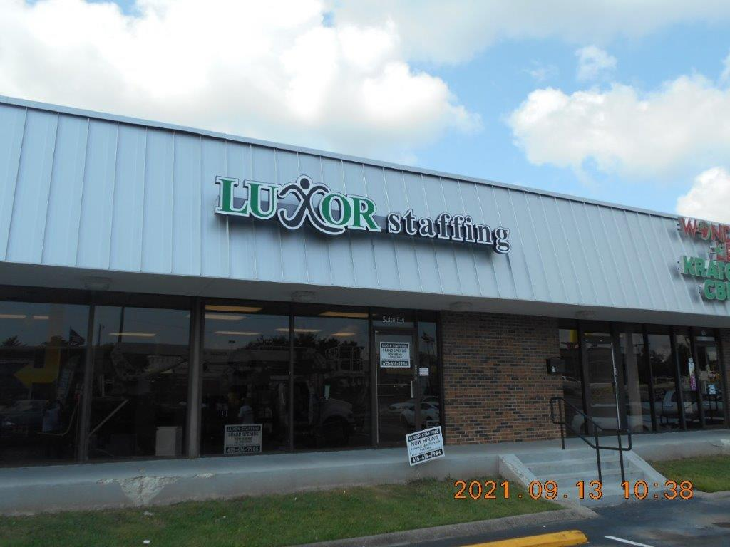 luxor staffing service sign - Sign company and business sign maker with led conversion - Joslin Sons Signs