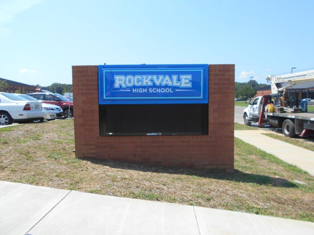 High school design with led conversion for Rockvale, a school in Nashville TN