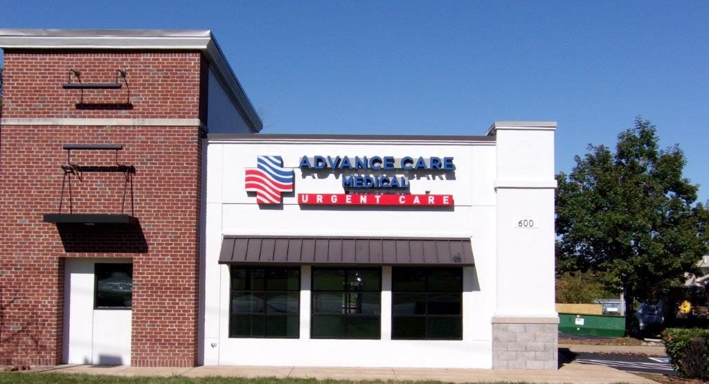 Advance care medical outdoor signage - Joslin and Sons Signs