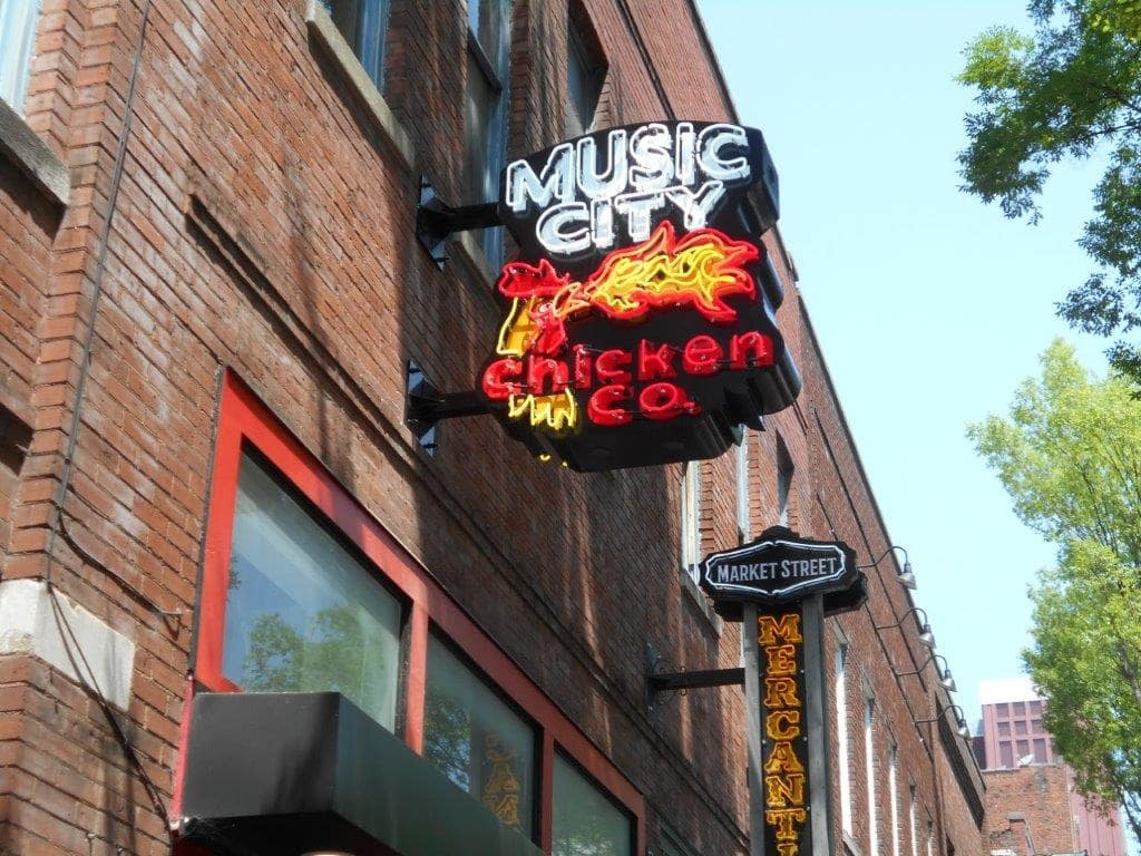 restaurant sign in music city Nashville with led conversion