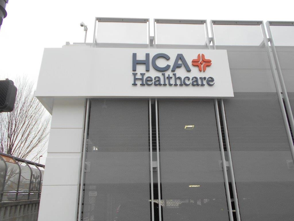HCA Outdoor Business Signage Built and Designed by Joslin and Son, Your Local Sign Company