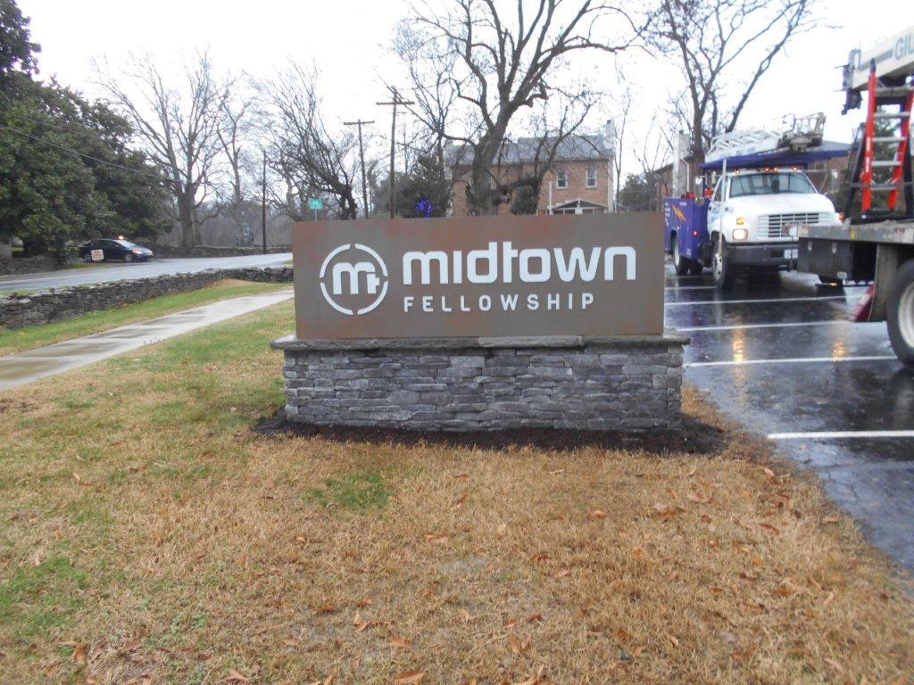 Midtown Fellowship church sign Nashville from a sign company near me