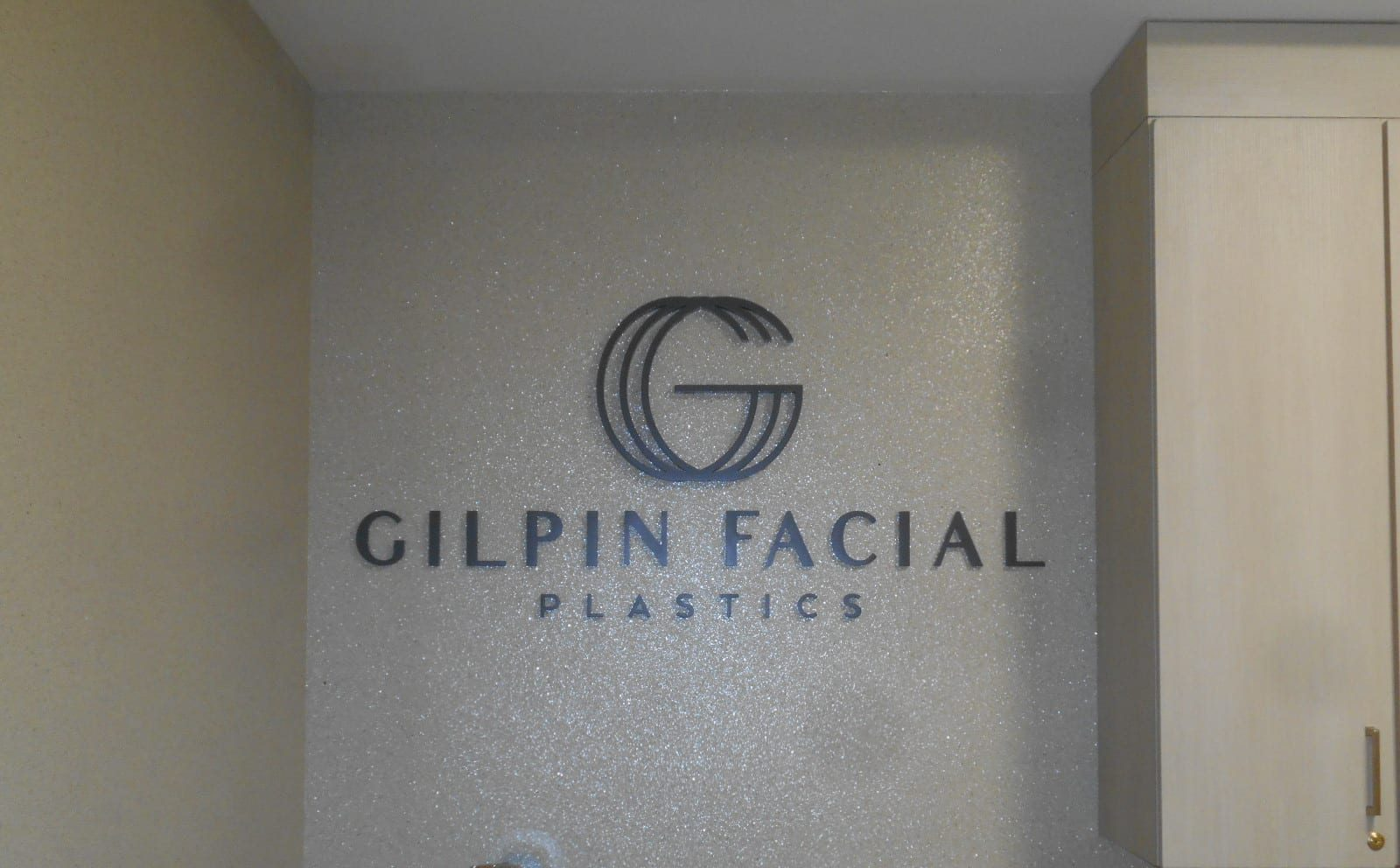 Exquisite business signage for Gilpin Facial by Joslin and Son, Nashville's Local Sign Company.