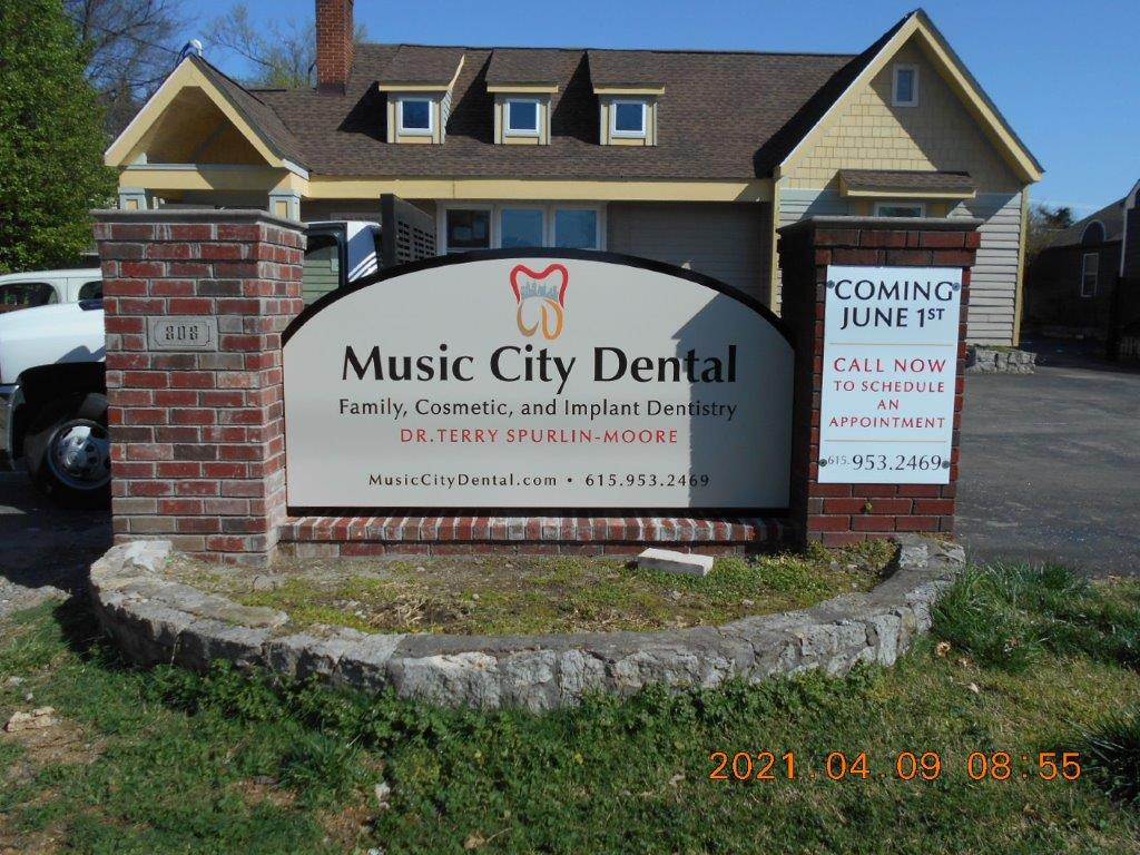 music city dental - local sign company and business sign maker with led conversion in nashville - Joslin Sons Signs