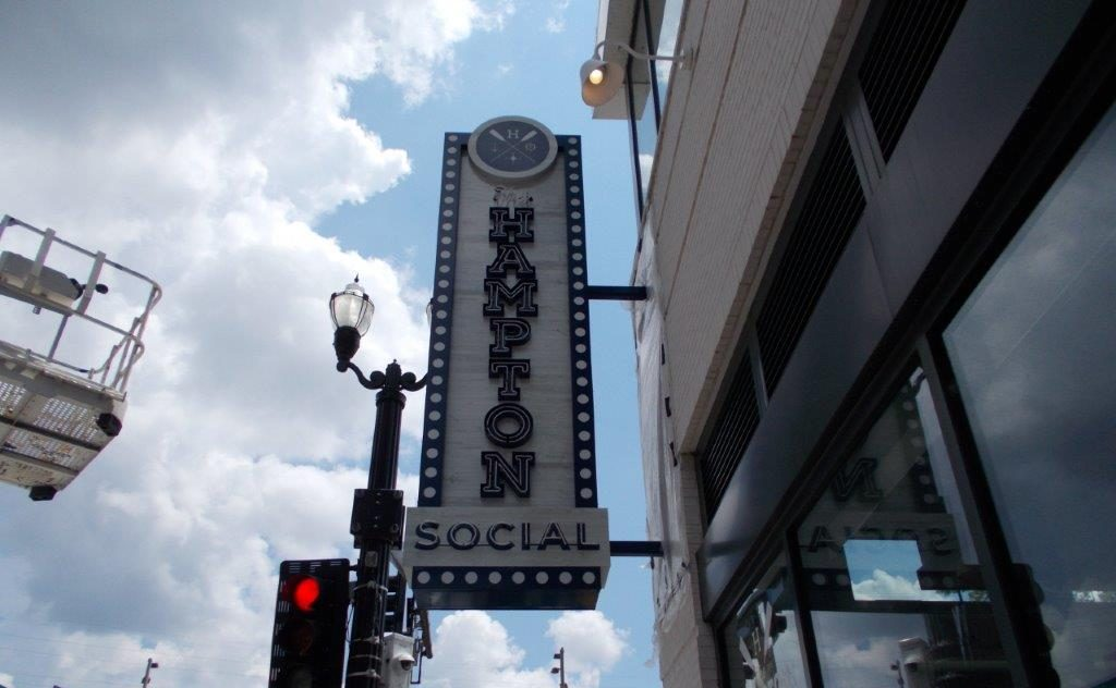 hampton social restaurant and business sign downtown nashville from a sign company near me