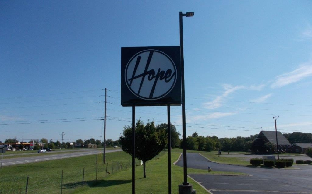 new hope church sign nashville from a local sign company called Joslin and Son Signs