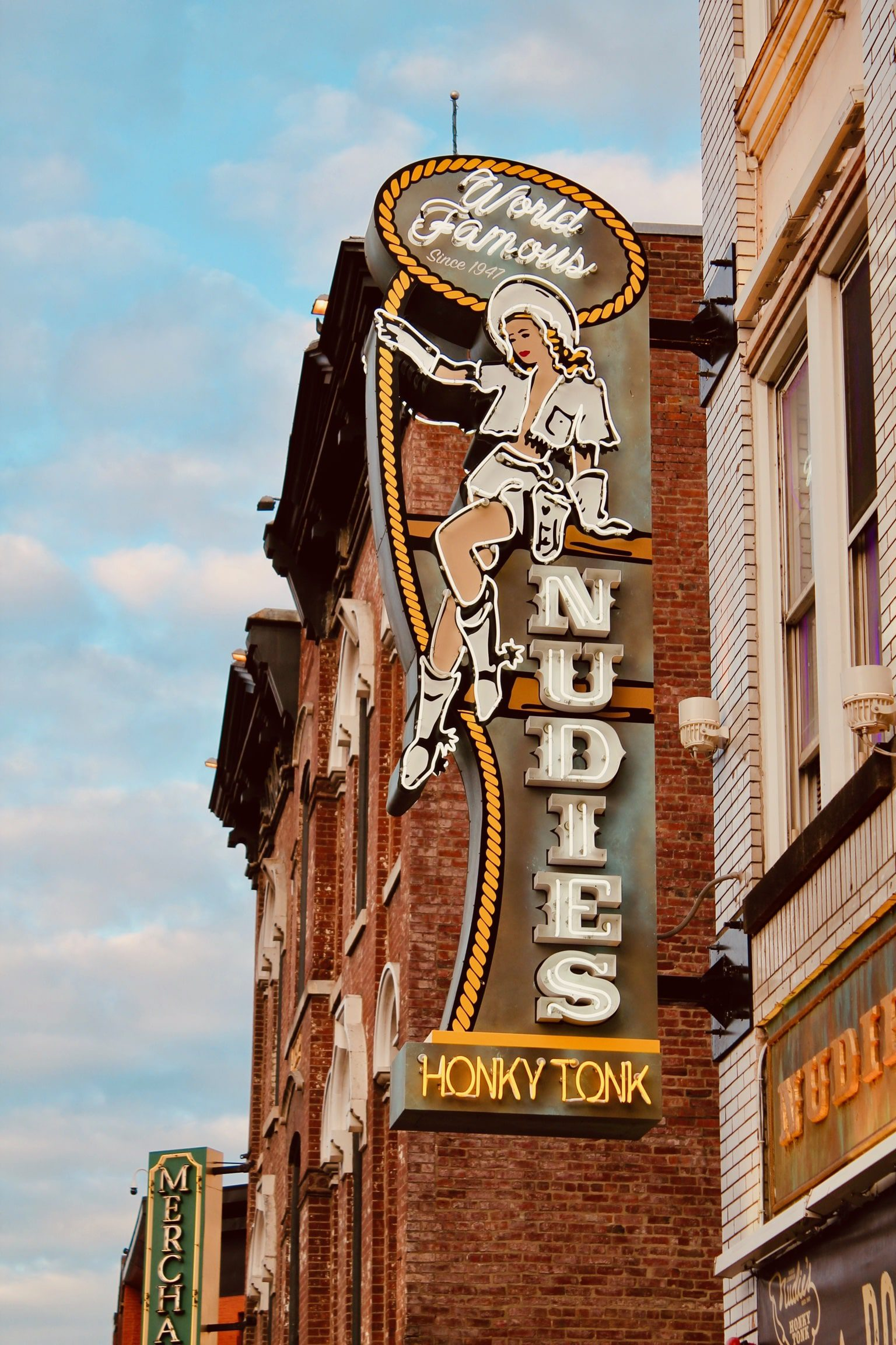 nudies honky tonk led sign with led conversion in Nashville