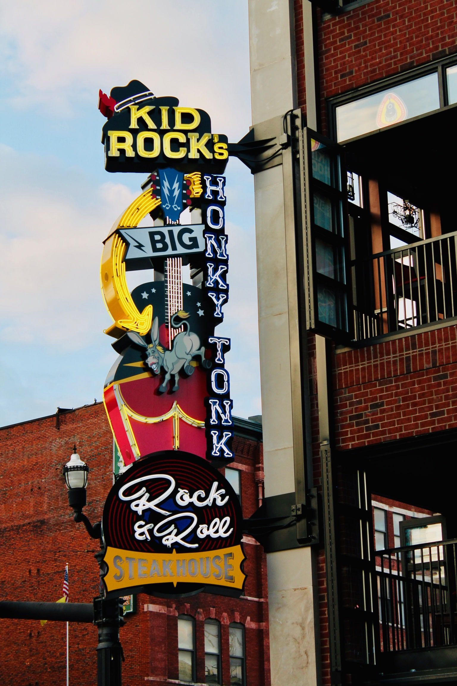 kid rock's honky tonk led sign with led conversion in Nashville