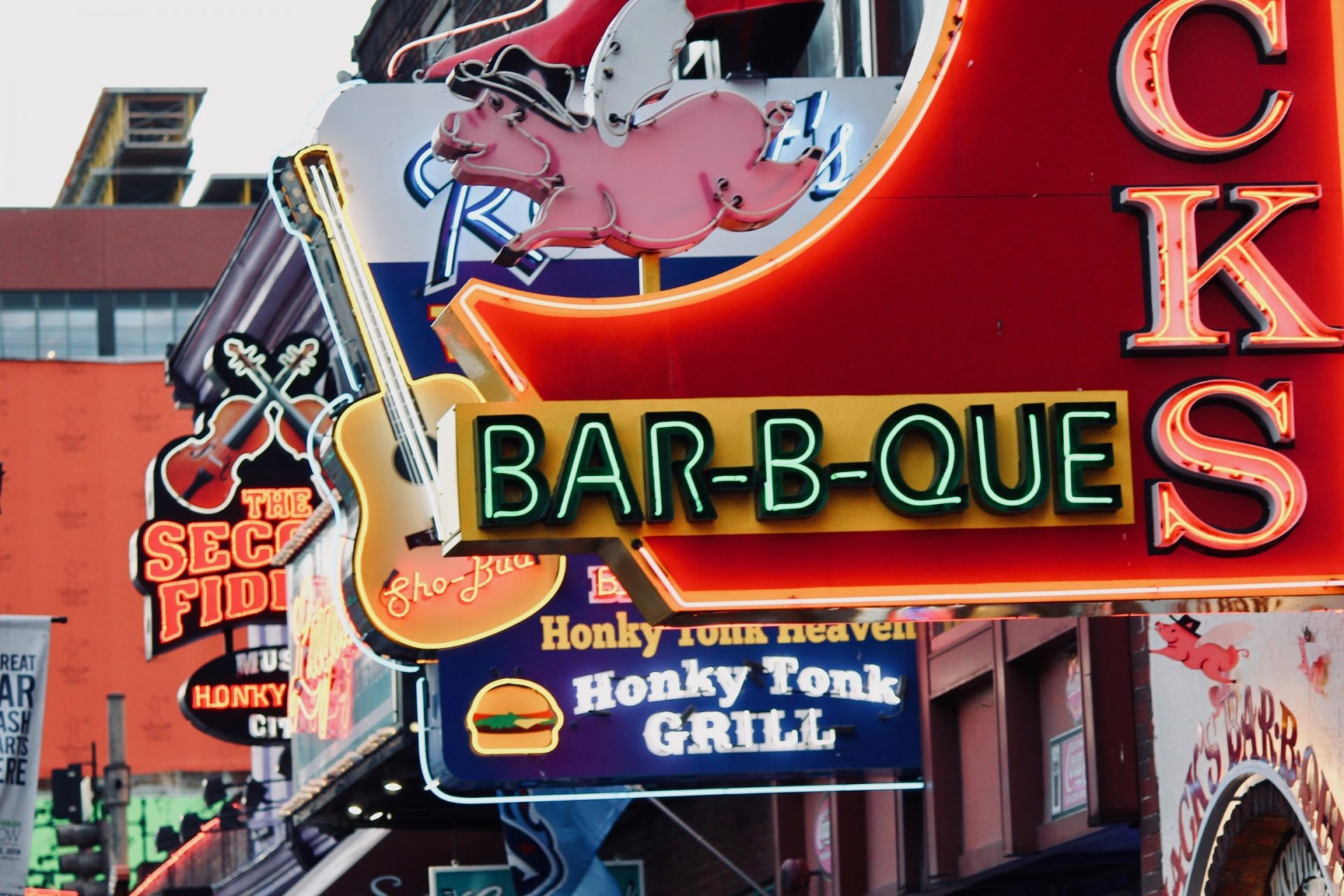 line of led signs with led conversion in Nashville