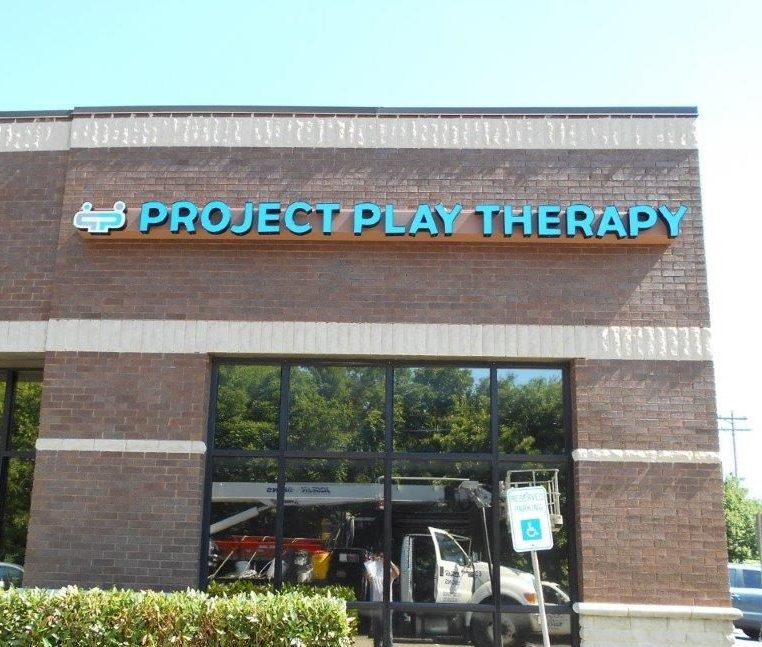 project play therapy sign from a business sign maker in nashville