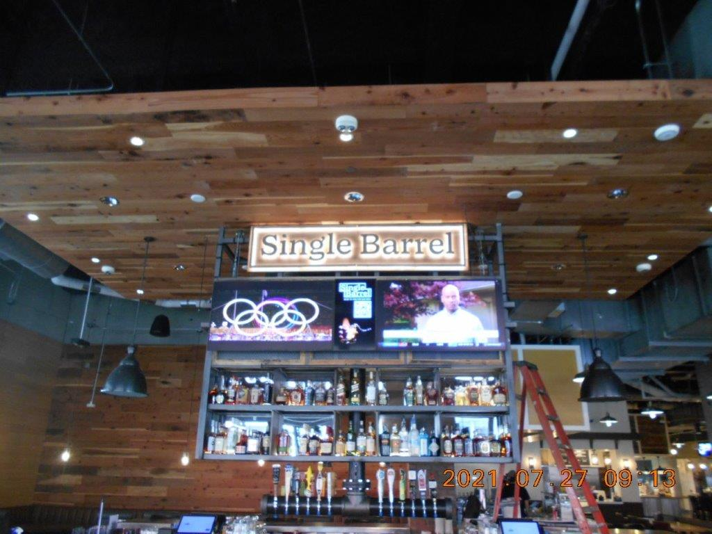 single barrel alcohol sign - local sign company and business sign maker with led conversion in nashville - Joslin Sons Signs