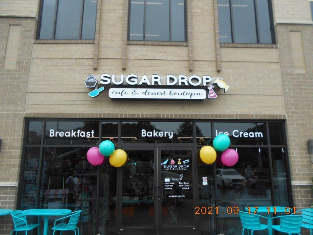 cafe and dessert restaurant sign - local sign company and business sign maker with led conversion in nashville - Joslin Sons Signs
