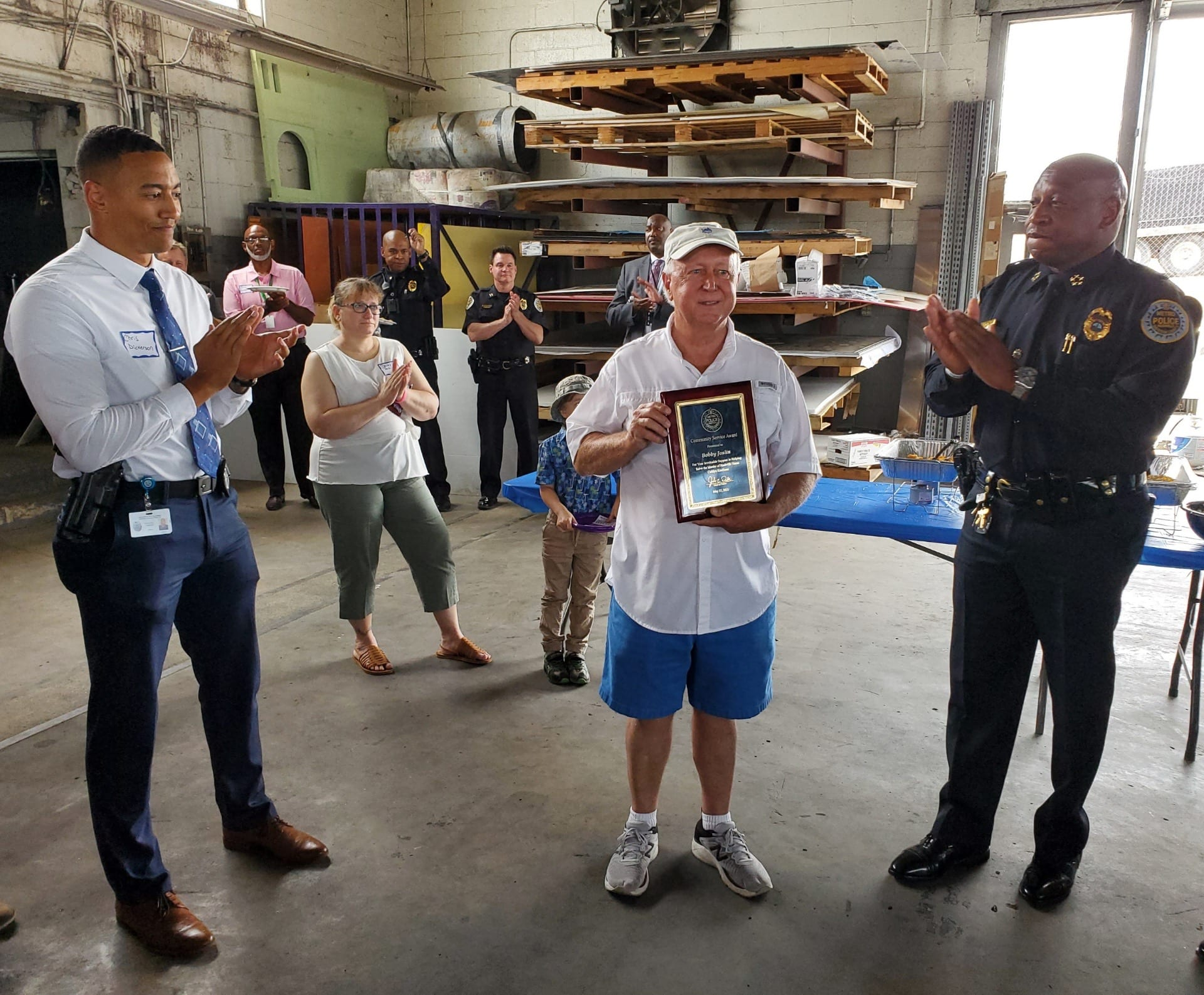 CEO of Joslin and son Signs receives community service award