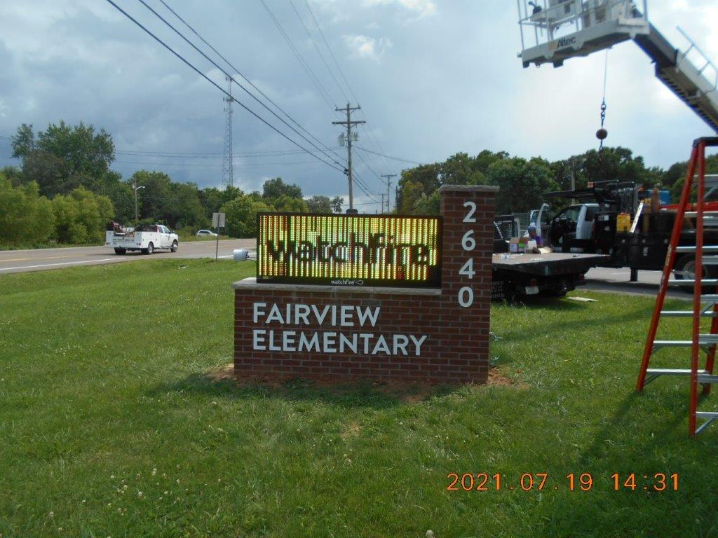 construction of Fairview elementary school sign in Nashville